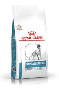 VHN DERMATOLOGY HYPOALLERGENIC MODERATE CALORIE DOG DRY PACKSHOT B1 High Res.   Print